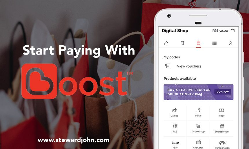 Go cashless with Boost Application