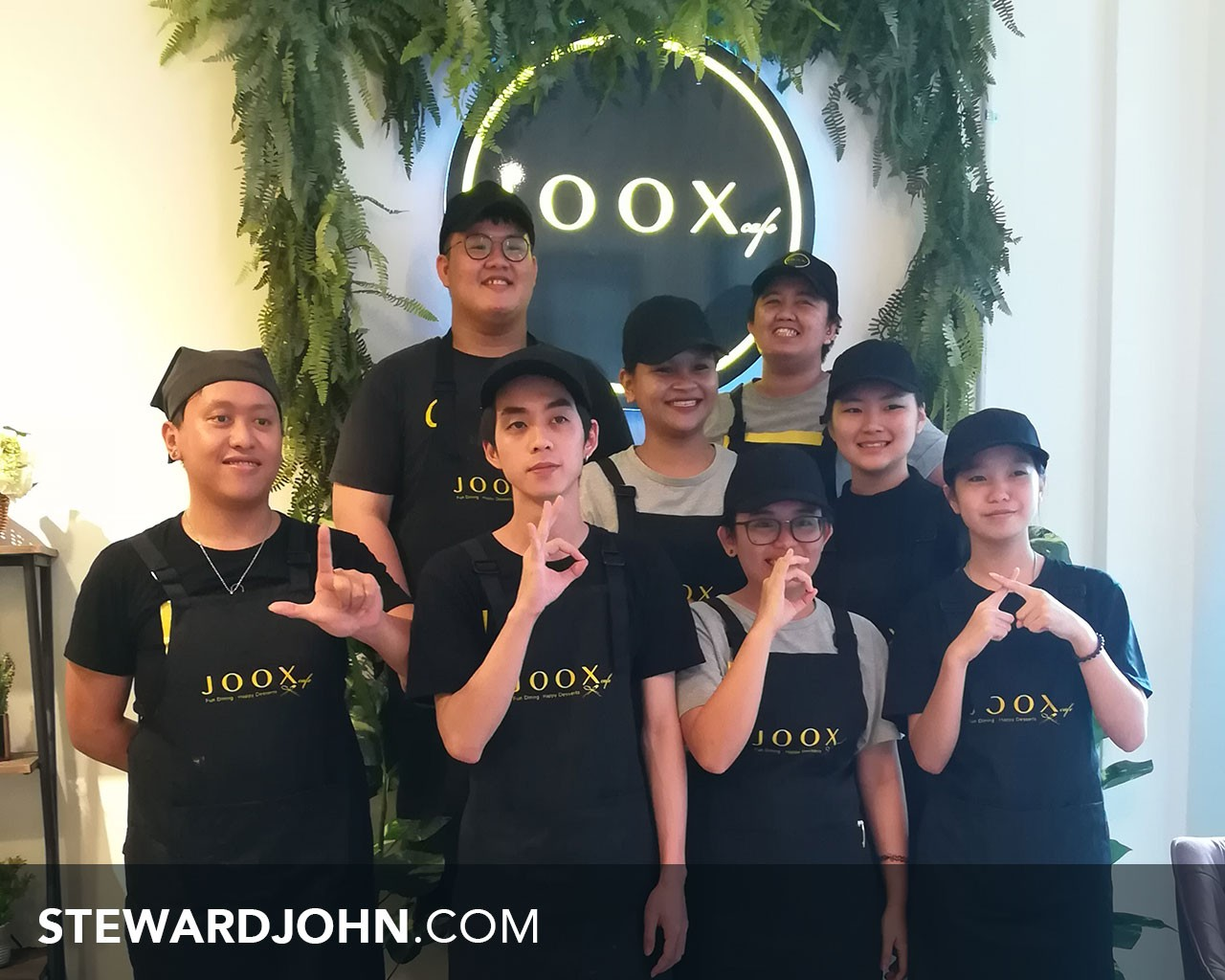 Joox Cafe's dedicated staffs. Ready to serve you with big smile