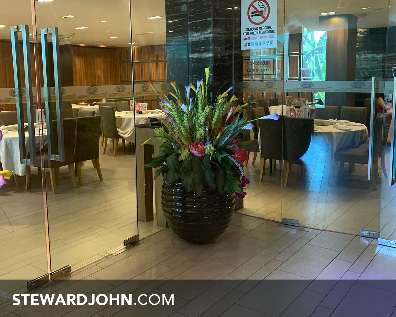 E-west restaurant - located on the 1st floor of the building
